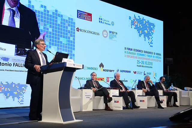 First day of the Eurasian Economic Forum 2018 comes to a close in Verona