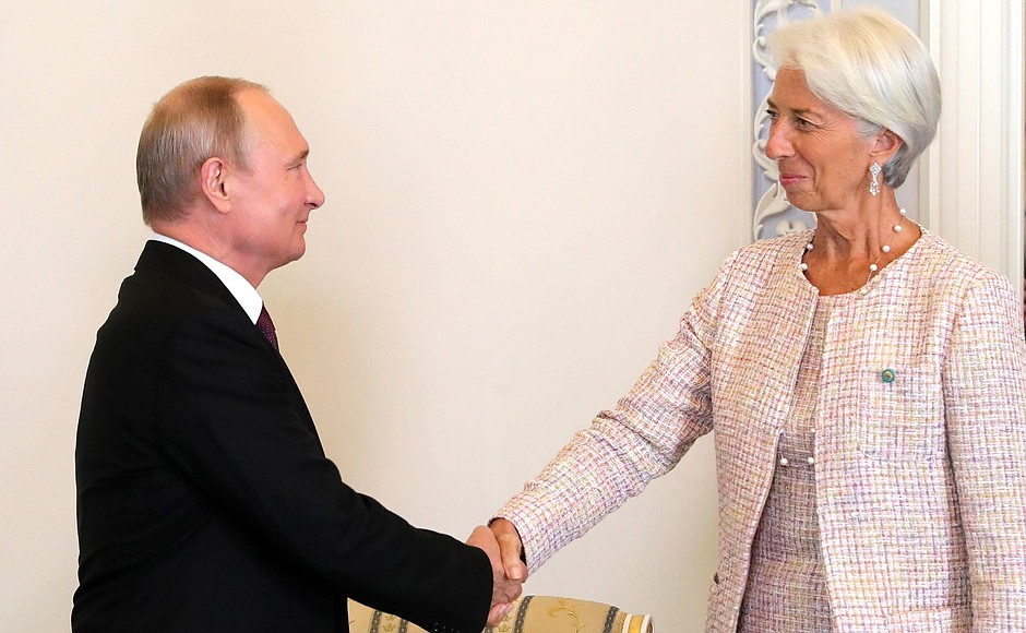 Meeting with IMF Managing Director Christine Lagarde