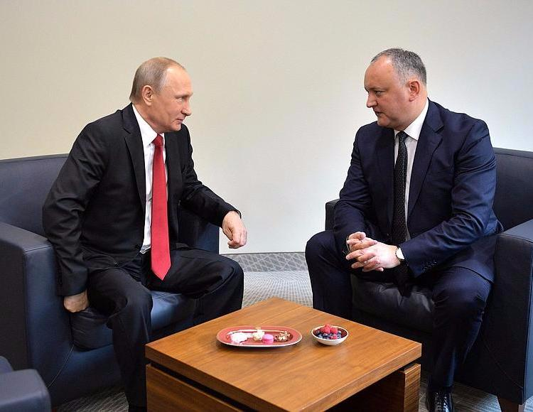 Meeting with President of Moldova Igor Dodon