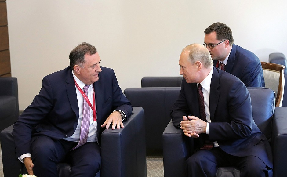 Meeting with President of the Republika Srpska entity of Bosnia and Herzegovina Milorad Dodik