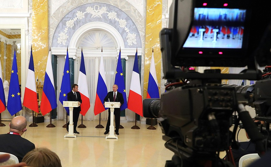 Joint news conference with President of France Emmanuel Macron
