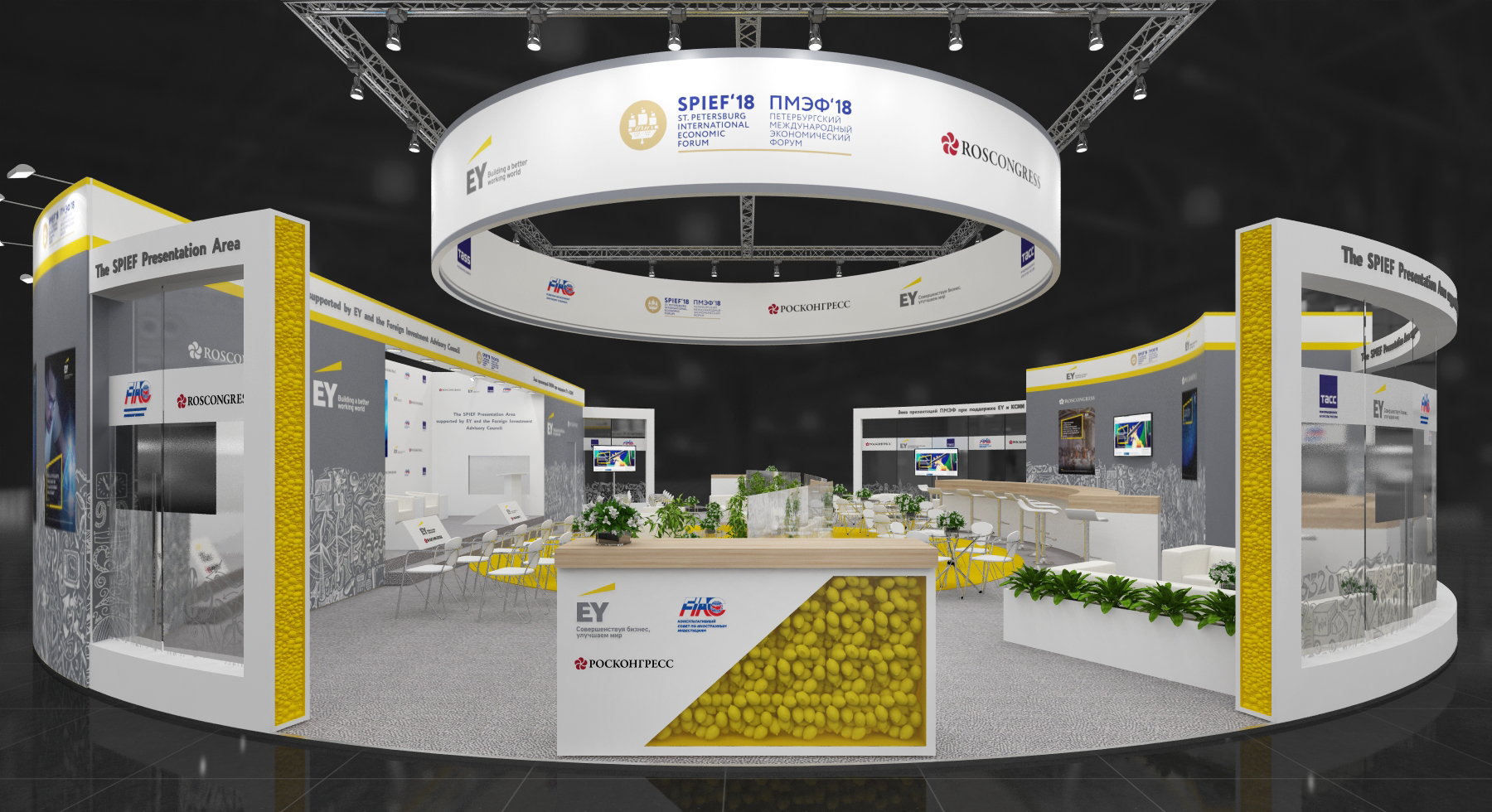SPIEF Presentation Area supported EY and FIAC to Operate During the Forum