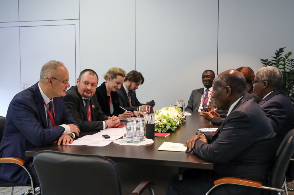 Russia and Côte d'Ivoire Discuss Business Relations and Participation in Russia–Africa Summit