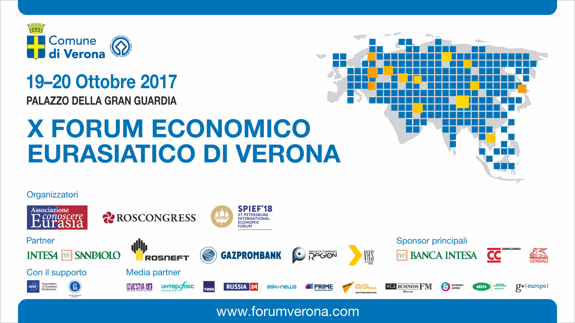 X Eurasian Economic Forum in Verona to Focus on Key Economic Development Issues in Greater Eurasia