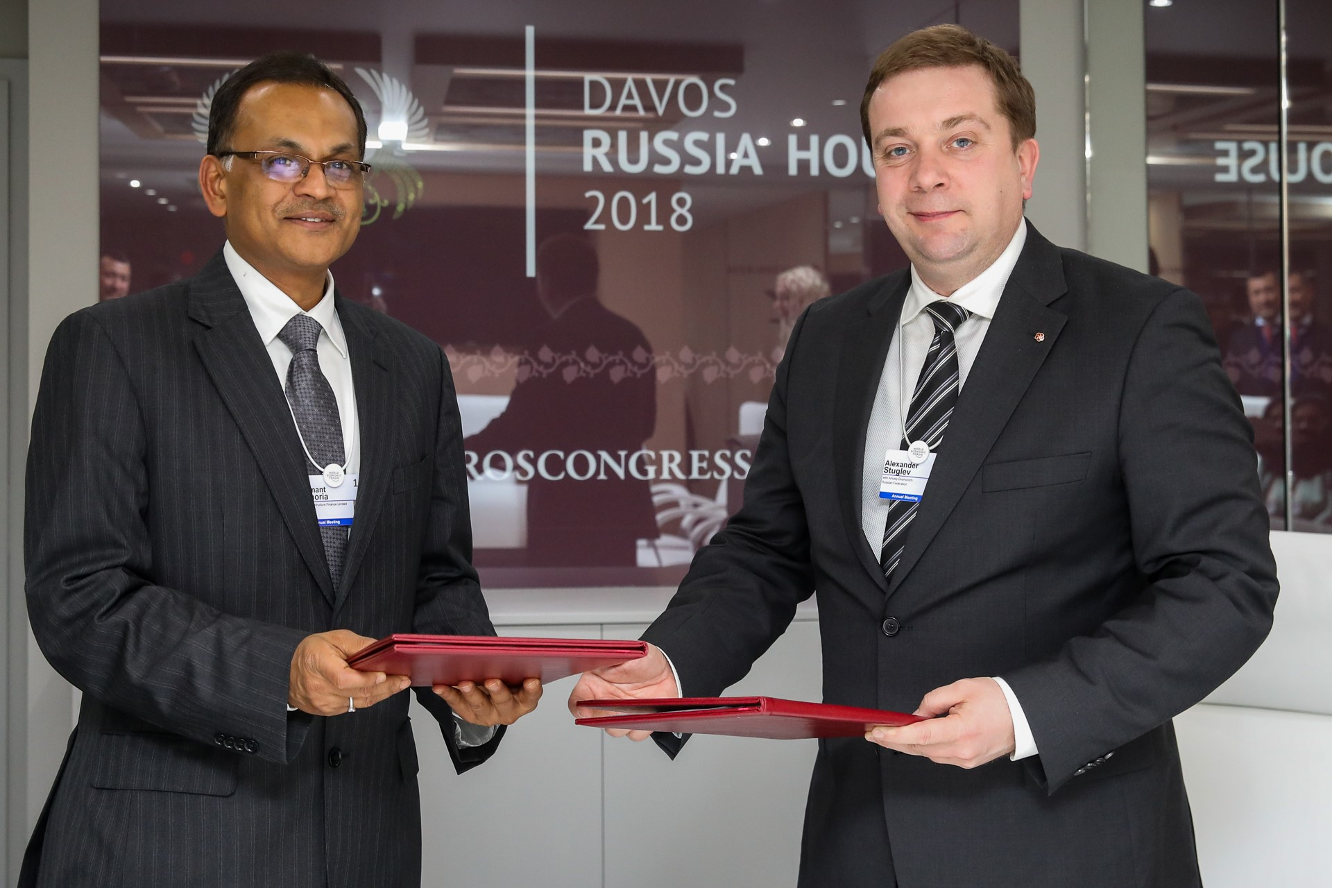 Roscongress Foundation signs agreement at Russia House in Davos